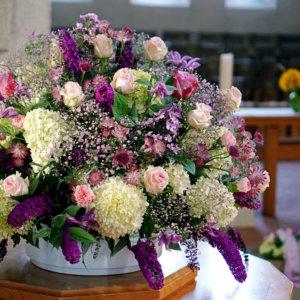 Blumengesteck für Beerdigung