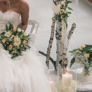 Brautstrauss, Blumen für Kirchendeko