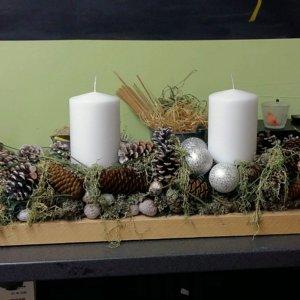 Kurse Adventsgesteck SILBERKNOSPE