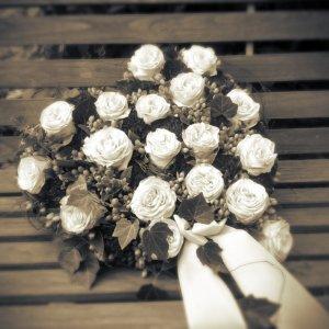 Blumenherz zur Beerdigung SILBERKNOSPE