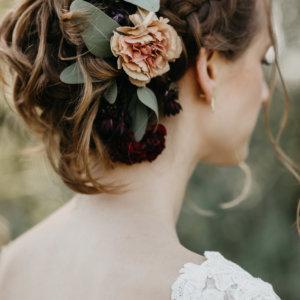 Haarschmuck für die Braut SILBERKNOSPE