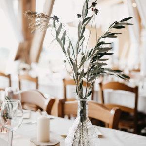 Boho-Tischdeko Hochzeitsfloristik Ostschweiz SILBERKNOSPE