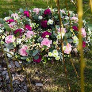 Blütenkranz Trauerfloristik SILBERKNOSPE
