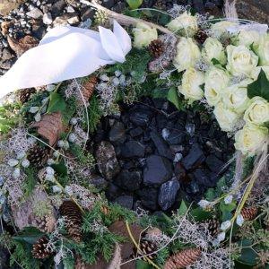 Bouquet - Trauerkranz SILBERKNOSPE