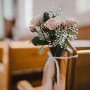 Blumen für die kirchliche Trauung Hochzeitsfloristik SILBERKNOSPE Region Thurgau, Zürich, Aargau, St.Gallen